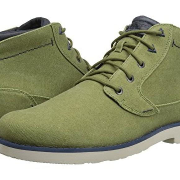 New Teva Mason Waxed Canvas Ankle Boots